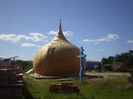 Вот и деревянный каркас нашего купола (август 2009)